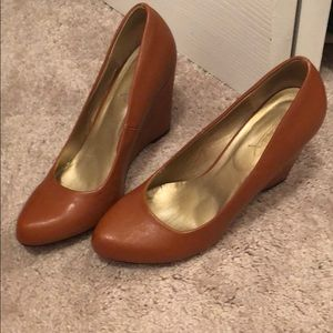Shoes - Brown wedges perfect for the fall!!